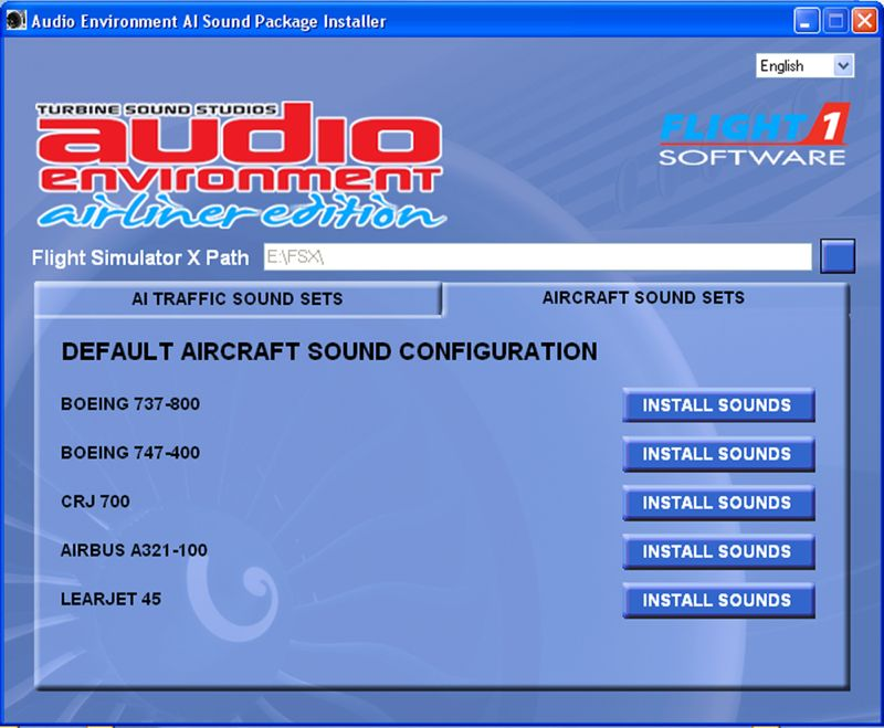 audio environment airliner edition virtuali negozio. Black Bedroom Furniture Sets. Home Design Ideas
